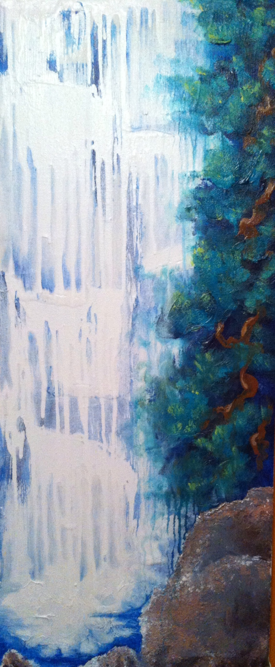 """Listen to the Falls Painted March 2014 18x46"""""""