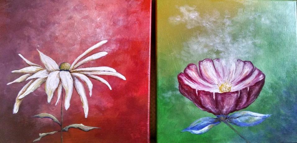 Flower Diptych