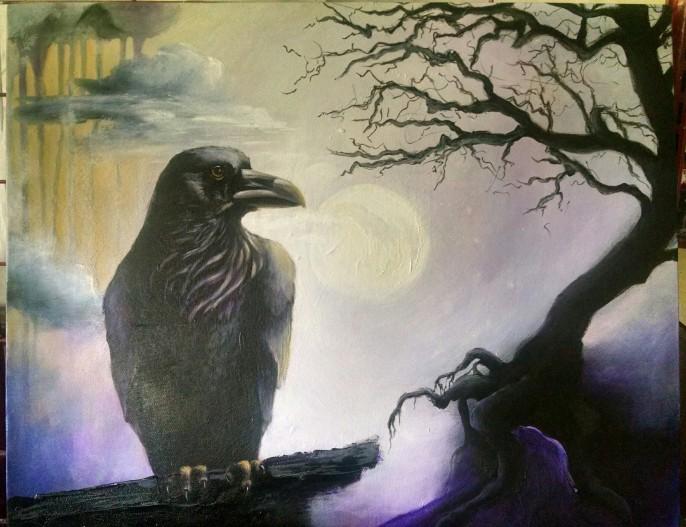 Contemplative Raven